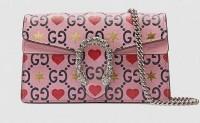 Gucci的情人节爱心图案包袋系列