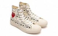 PLAY COMME des GARÇONS与Converse的爱心人脸鞋履