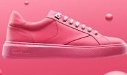 一款胶底口香糖运动鞋亮相