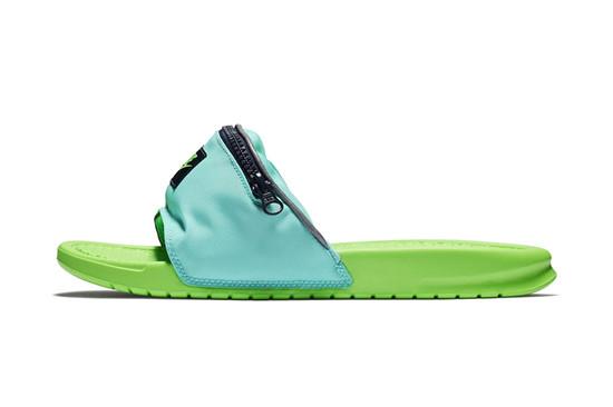 """Nike将推出""""Fanny pack""""拉链式收纳拖鞋"""