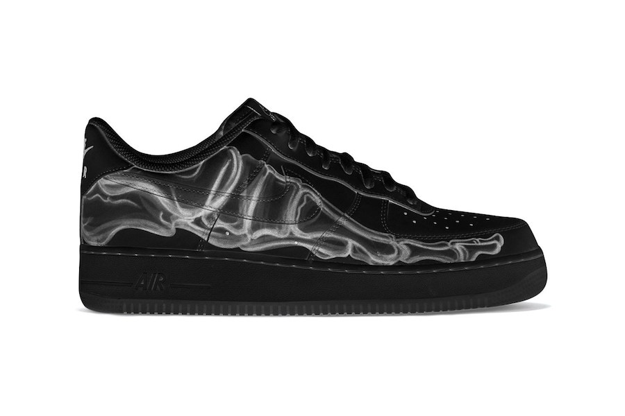 "NIKE Air Force 1""Black Skeleton""万圣节配色"