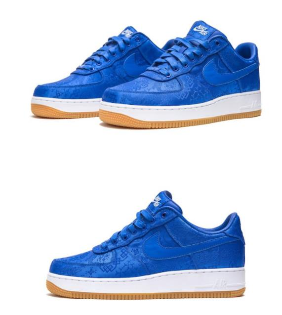 "CLOT x NIKE Air Force 1""蓝丝绸"""