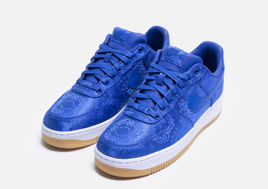 CLOT x NIKE Air Force 1 Low 蓝丝绸