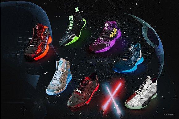 Adidas与《Star Wars》合作联名篮球鞋