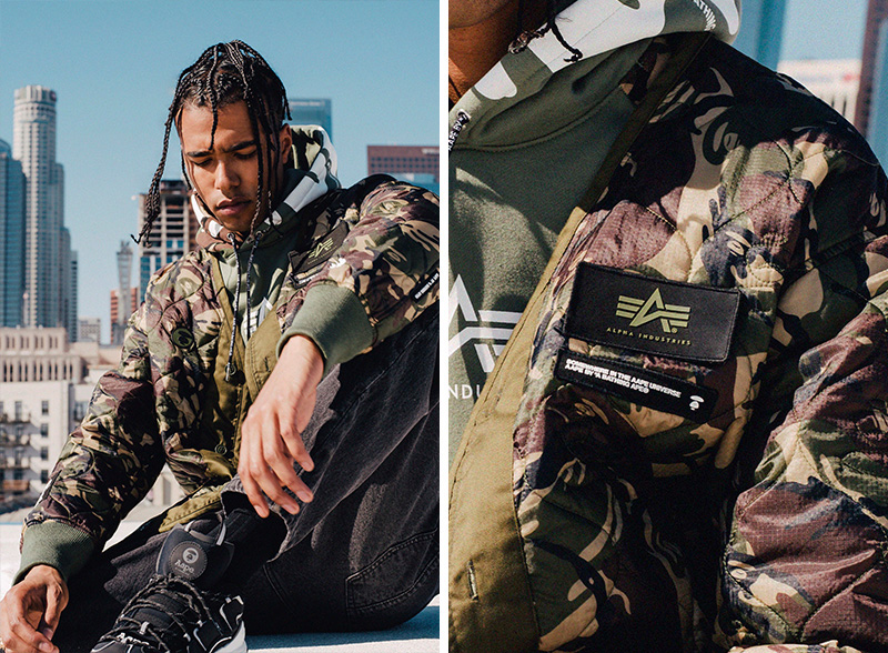 AAPE BY A BATHING APE x Alpha Industries 2019 联名系列