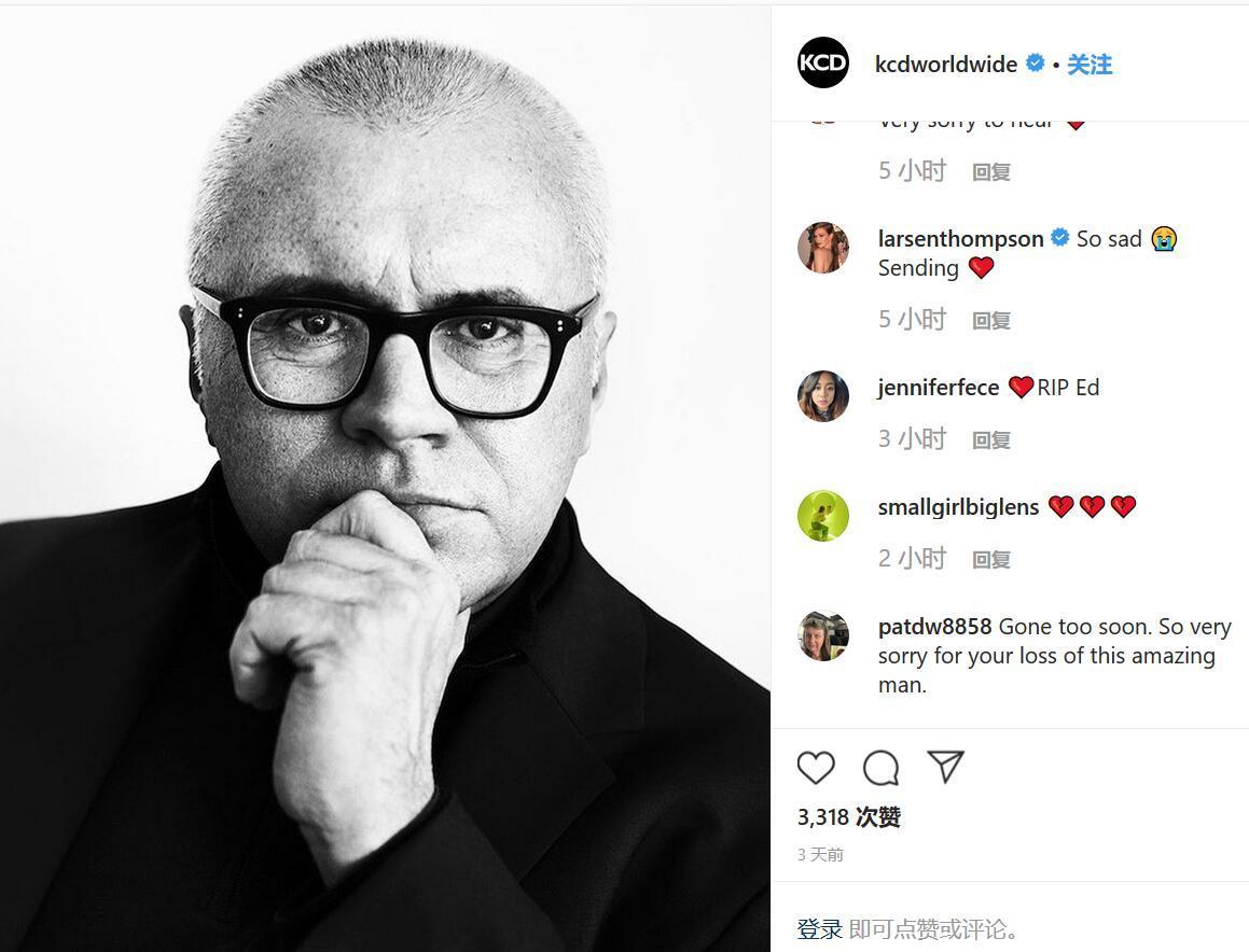 美国最著名的时尚公关专家之一 Ed Filipowski 去世