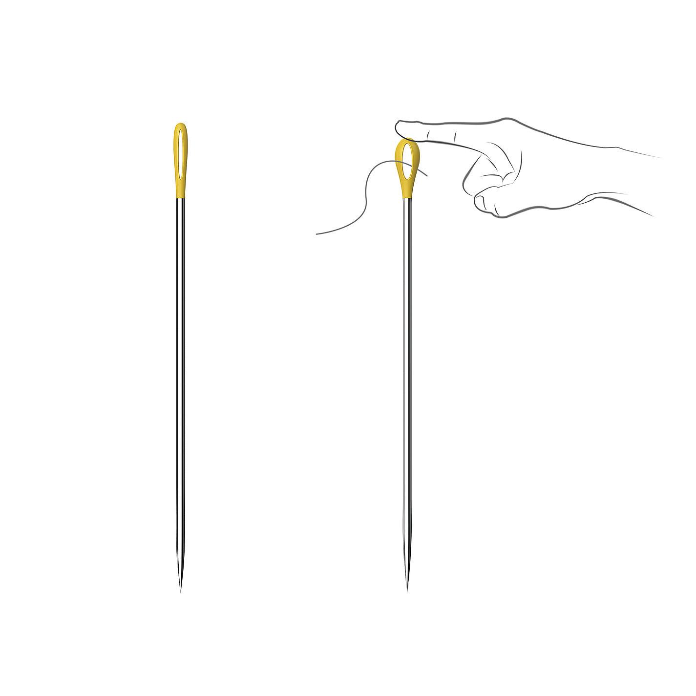 彩头缝衣针,针孔可大可小,穿针引线更方便