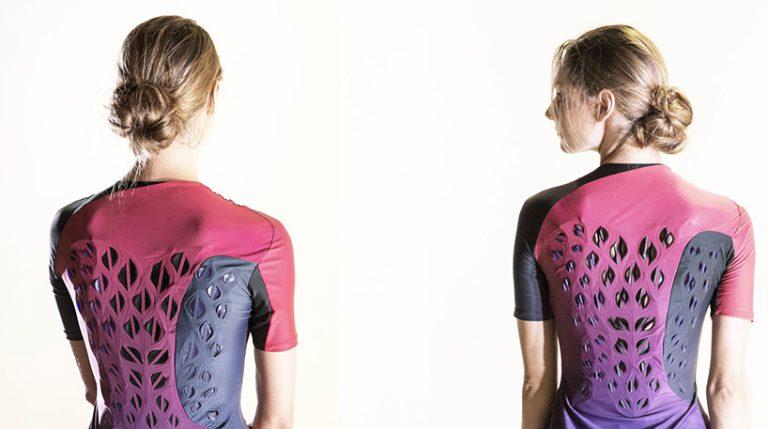 麻省理工开发生物材料服装增强透气性