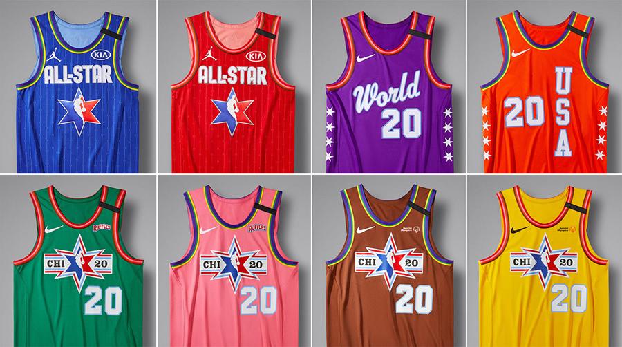 2020 年 NBA全明星赛球衣灵感来自芝加哥捷运